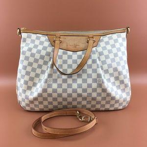 Preowned Louis Vuitton Siracusa GM Damier Azur